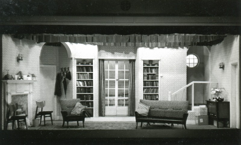 Set for The Bride and the Bachelor, by Ronald Millar, produced by Frederick C. Chatburn, 30 January-6 February, 1960