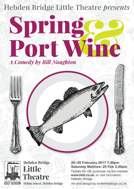 spring and port wine poster. Art and design by krobertsdesign.co.uk