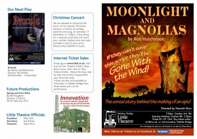Moonlight and Magnolias programme