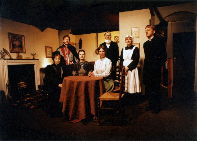 Glasstown, by Noel Robinson, directed by Jennifer Crossley, 9-14 March, 1987. Janice Dobson, Julian Haw, Claire Tapsfield, Jacki Reed, Steve Hirst, Joyce Newton, Vaughan Leslie.