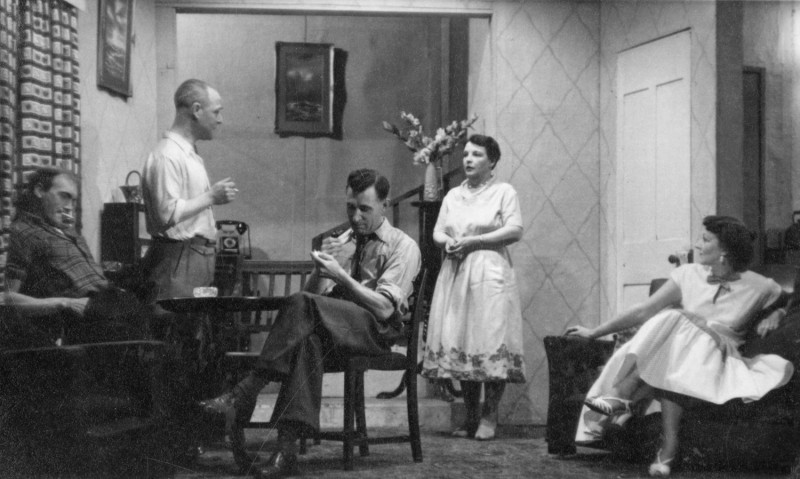 Hebden Bridge Little Theatre 10th to 17th March 1956. Frank Crossland, Norman Leach, Frances Shaw, Walter Wells and Gladys Thornber.