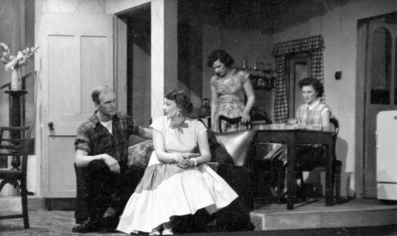 Hebden Bridge Little Theatre 10th to 17th March 1956. Frank Crossland, Gladys Thornber, Shirley Webster and Frances Shaw.