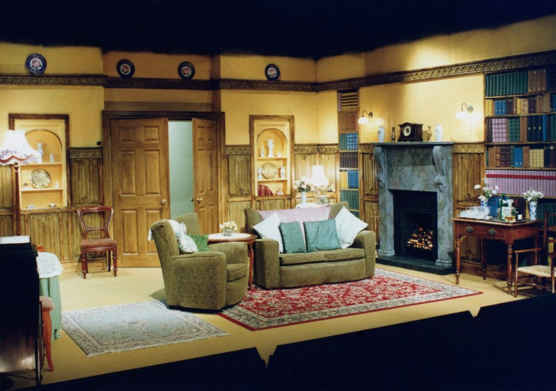 Set for Blithe Spirit, by Noël Coward, directed by Jennifer Crossley, 24-29 April, 2000.