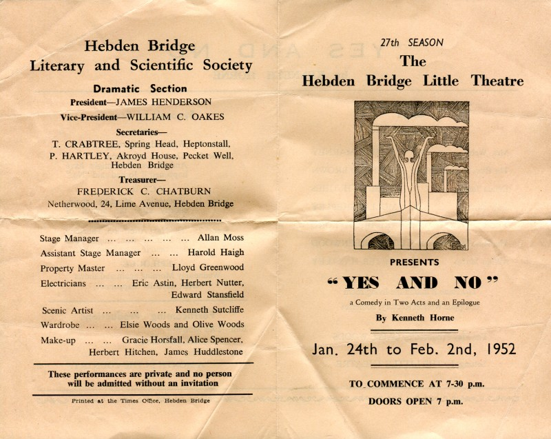 Yes and No, by Kenneth Horne, produced by Olive Woods, 24 January-2 February, 1952