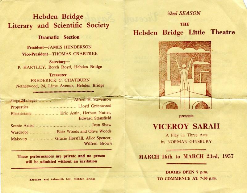 Viceroy Sarah programme, 1957