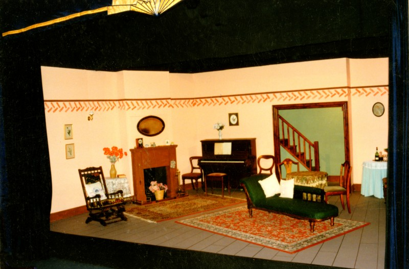 Set for Little Women, by Peter Clapham, 25-30 November 1996, directed by Claire Mobbs and Jennifer Crossley.