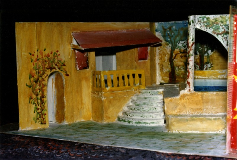 Model of Set for Man of the Moment, 1997