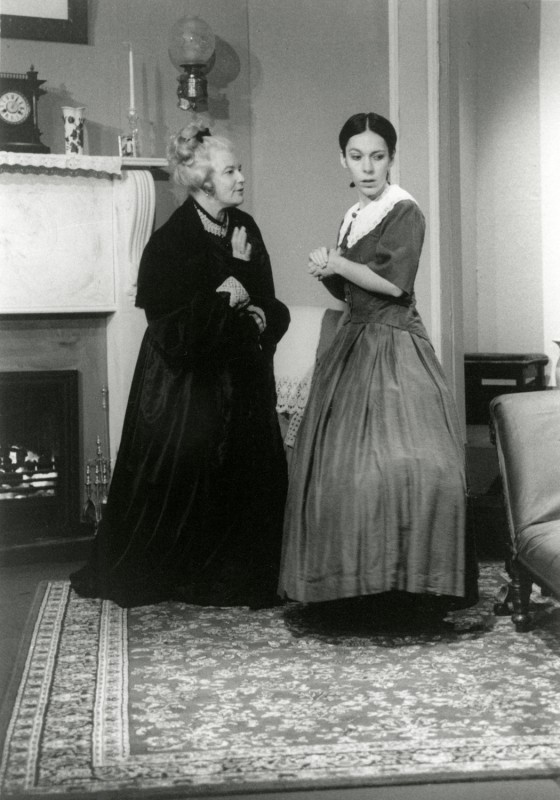 The Heiress, by Ruth and Augustus Goetz, directed by Vaughan Leslie, 27 November-2 December 2000. Marian Feather as Lavinia Pennyman, Debbie Shutter as Catherine.