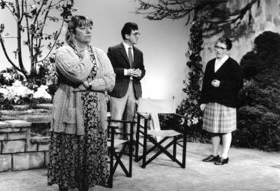 Woman in Mind, by Alan Ayckbourn, directed by Vaughan Leslie, 24-29 April 1995. Sue Morris as Susan, Keith Washington as Bill, Claire Mobbs as Muriel.