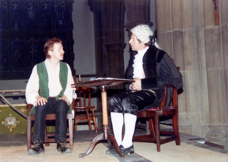 The Cragg Coiners, by Ray Riches and Tony Webster, directed by Ray Riches, 8-11 June 1988, Heptonstall Church. Vaughan Leslie and Dave Cure.