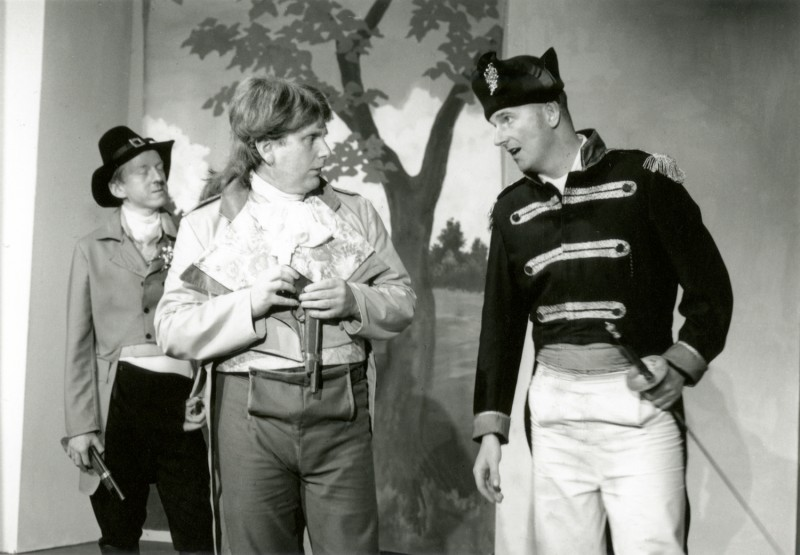 The Rivals, by Richard Sheridan, directed by Barbara Green, 27 June- 2 July 1994. Vaughan Leslie, Frank Butterworth and Steve Mackay.