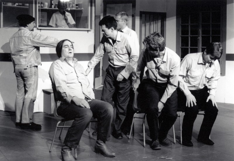 One Flew Over the Cuckoo's Nest, by Dale Wasserman, directed by Ray Riches, 20-25 February 1995. Frank Butterworth, Sue Riches, Ron Suthers, Vaughan Leslie, Dominic Makin, Alastair Graham and Chris Juckes.