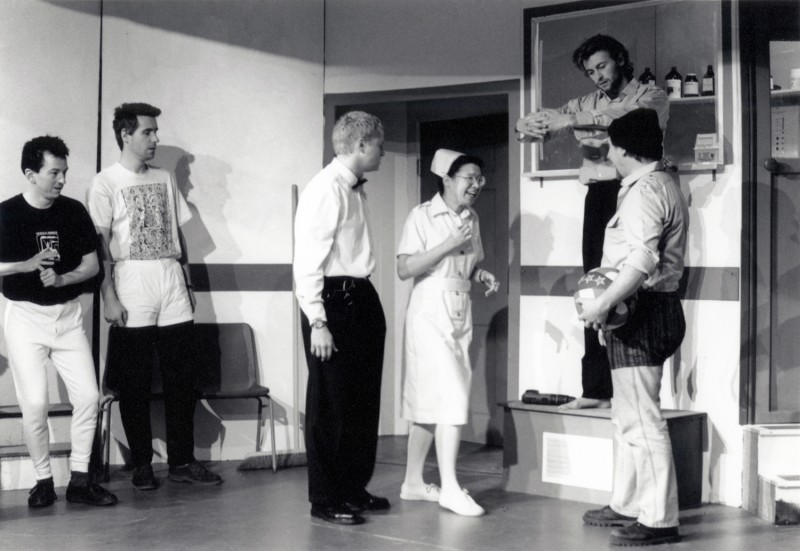 One Flew Over the Cuckoo's Nest, by Dale Wasserman, directed by Ray Riches, 20-25 February 1995. Vaughan Leslie, Alastair Graham, Dominic Makin, Hannah Stow, Rob Kenny and Frank Butterworth.