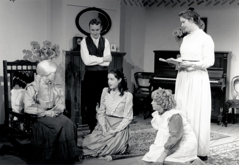 Little Women, adapted by Peter Clapham, directed by Claire Mobbs / Jennifer Crossley, 25-30 November 1996. Catherine Hartley, Craig Baillie, ?, Lorna Wigg, and ?.