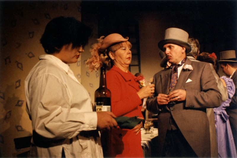 Fur Coat and No Knickers, by Mike Harding, directed by Michael Peel, 2-7 October 1995. Claire Mobbs, Sue Jones and Frank Butterworth.