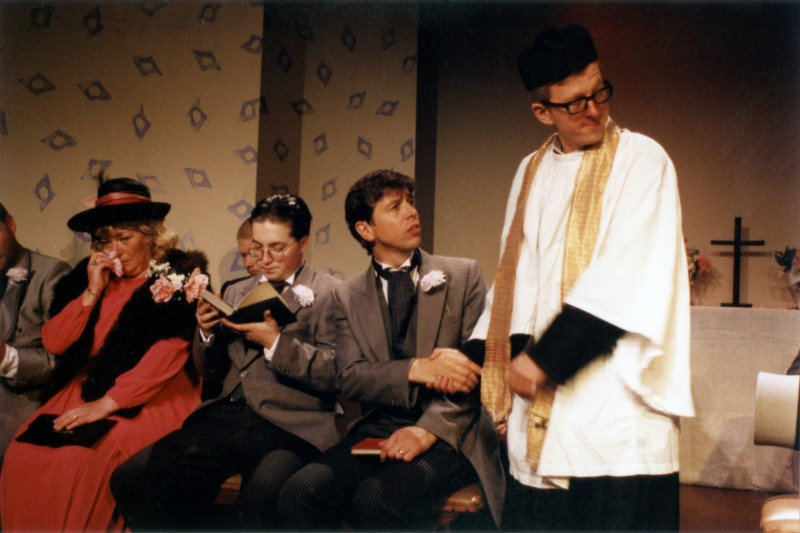 Fur Coat and No Knickers, by Mike Harding, directed by Michael Peel, 2-7 October 1995. Sue Morris, Daniel Whewell, Chris Juckes and Vaughan Leslie.