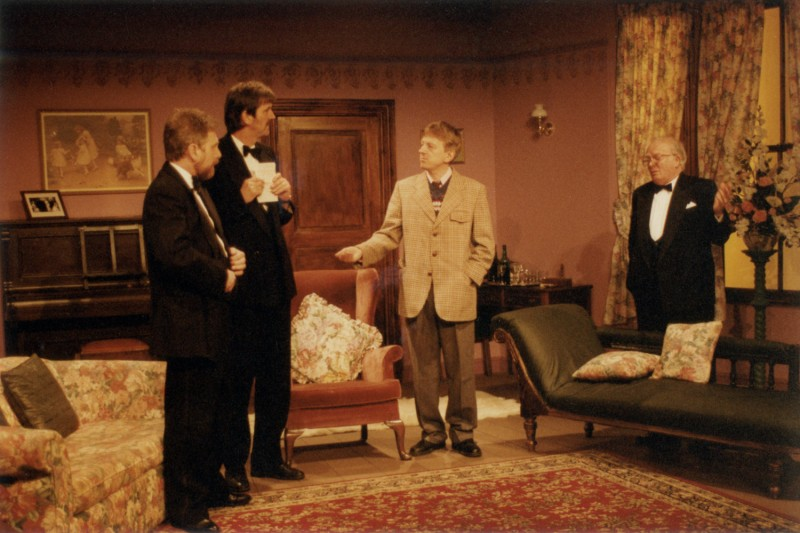 When We Are Married, by J.B. Priestley, directed by Jennifer Crossley, 29 April - 4 May 1996. Frank Butterworth, Ray Riches, Vaughan Leslie and Tom Clegg.