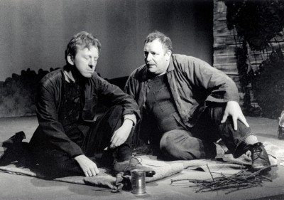 Of Mice and Men, by John Steinbeck, directed by Jenny Gore, 26 June - 1 July 2000. Vaughan Leslie and Brendan Ramsbottom.