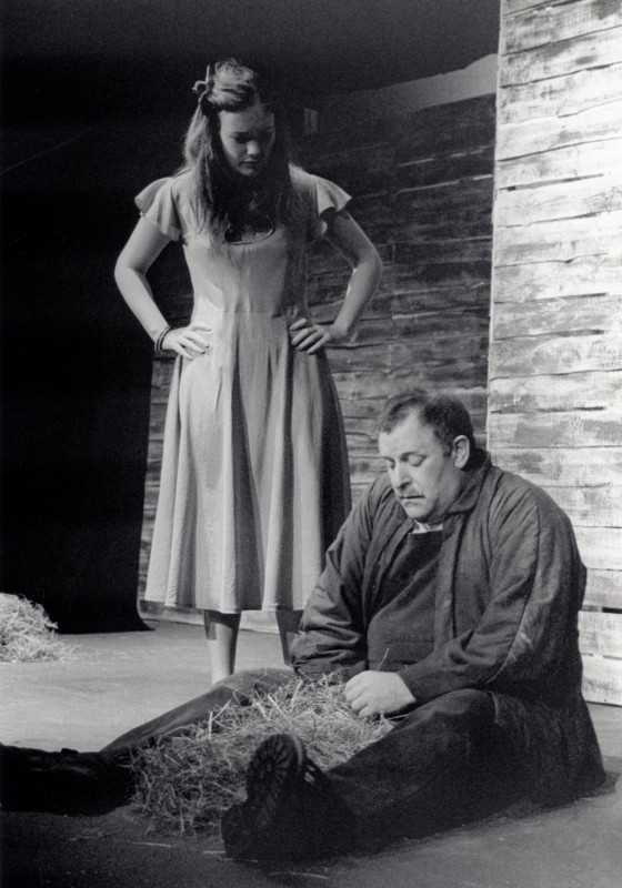 Of Mice and Men, by John Steinbeck, directed by Jenny Gore, 26 June - 1 July 2000. Hannah Sheppard and Brendan Ramsbottom.