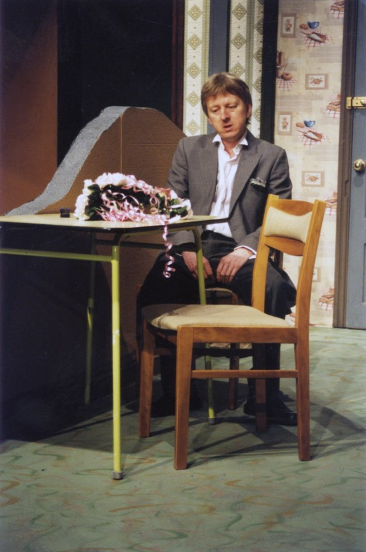 Sylvia's Wedding, by Jimmie Chinn, directed by Andrew Hamlin, 18-23 February 2002. Vaughan Leslie as Gordon.
