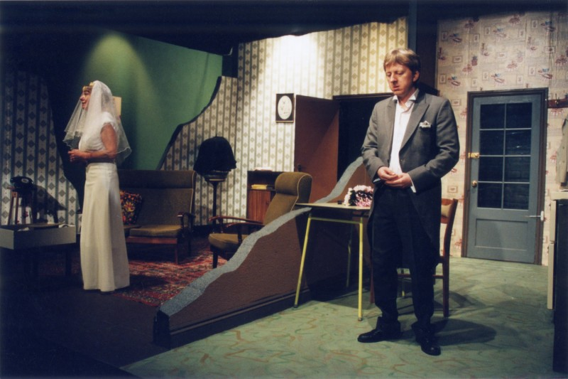 Sylvia's Wedding, by Jimmie Chinn, directed by Andrew Hamlin, 18-23 February 2002. Yvonne Collins, and Vaughan Leslie.