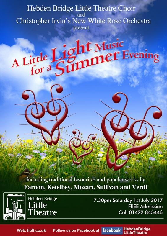 A Little Light Music for a Summer Evening choir poster july 2017