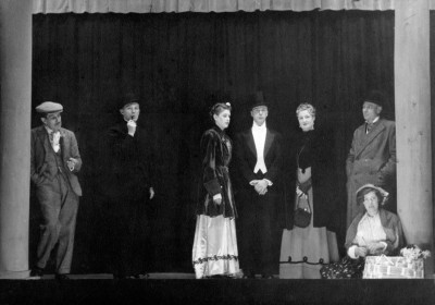 Pygmalion, by George Bernard Shaw, produced by Frederick Chatburn, 10-20 May, 1950. Alfred Stevenson, Lloyd Greenwood, Daphne Charity, Peter Hartley, Ethel Mitchell, Frank Mitchell and Sheila Hartley.