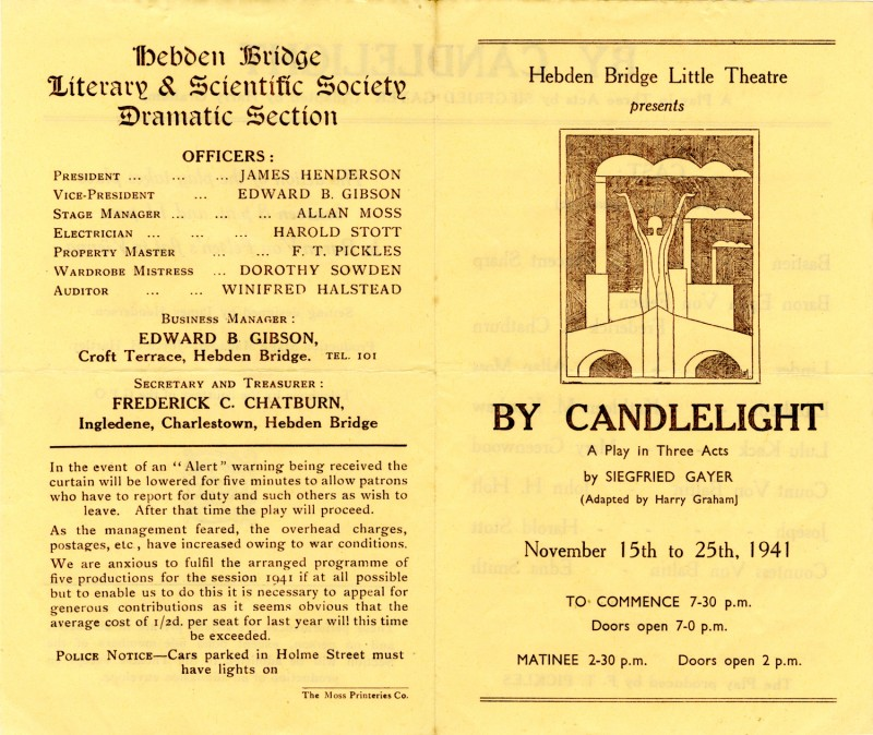 Programme for By Candlelight, 1941