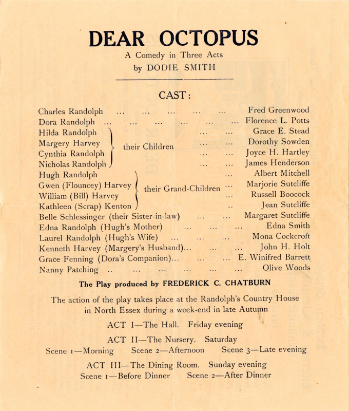 Programme for Dear Octopus, 1941
