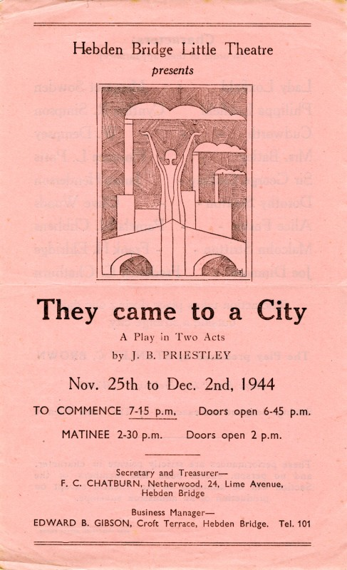 Programme for They Came to a City, 1944