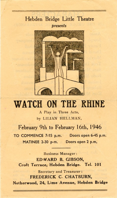 Programme for Watch on the Rhine, 1946