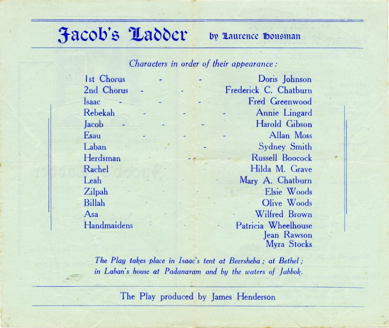 Jacob's Ladder, 1945