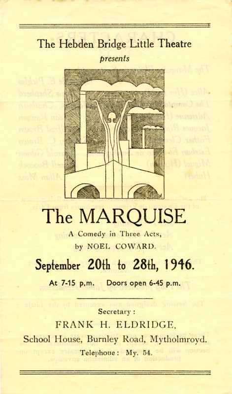 Programme for The Marquise, 1946