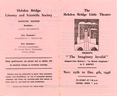 Programme for The Imaginary Invalid, 1948