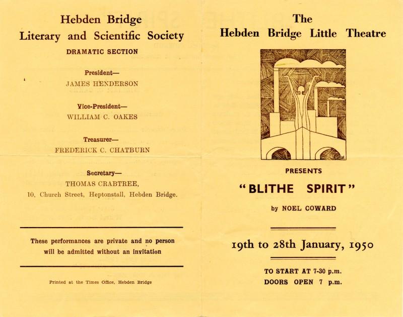 Programme for Blithe Spirit, 1950