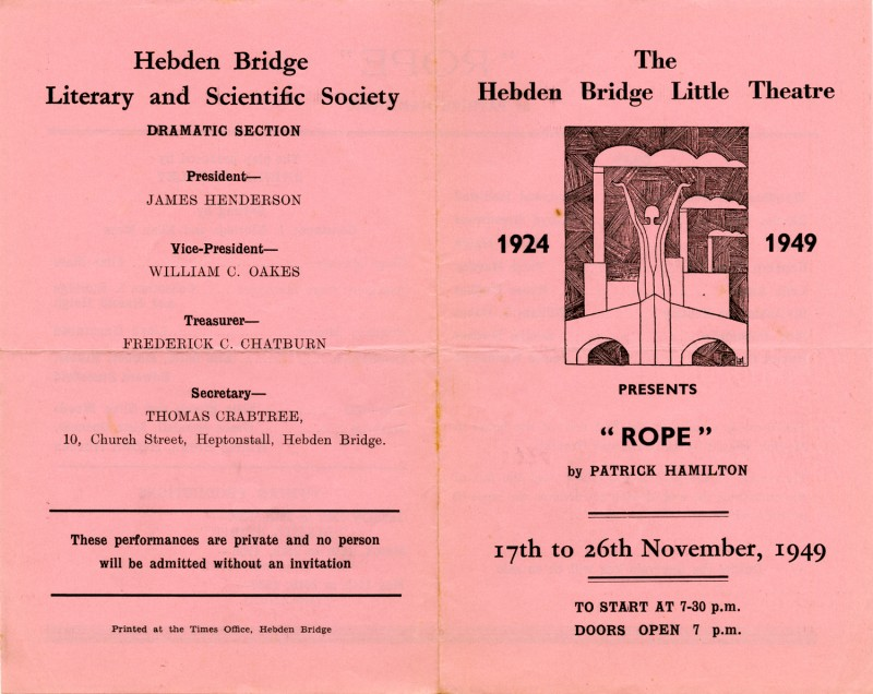 Programme for Rope, 1949
