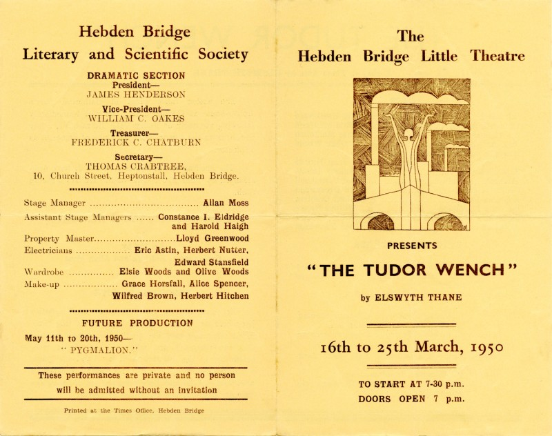 Programme for The Tudor Wench, 1950