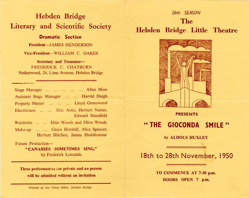 Programme for The Gioconda Smile, 1950