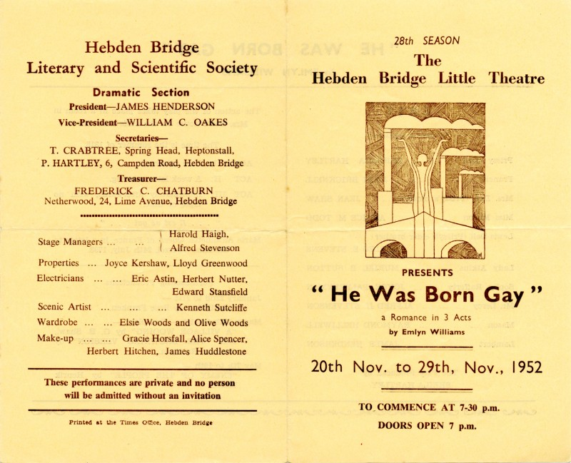 He Was Born Gay, 1952