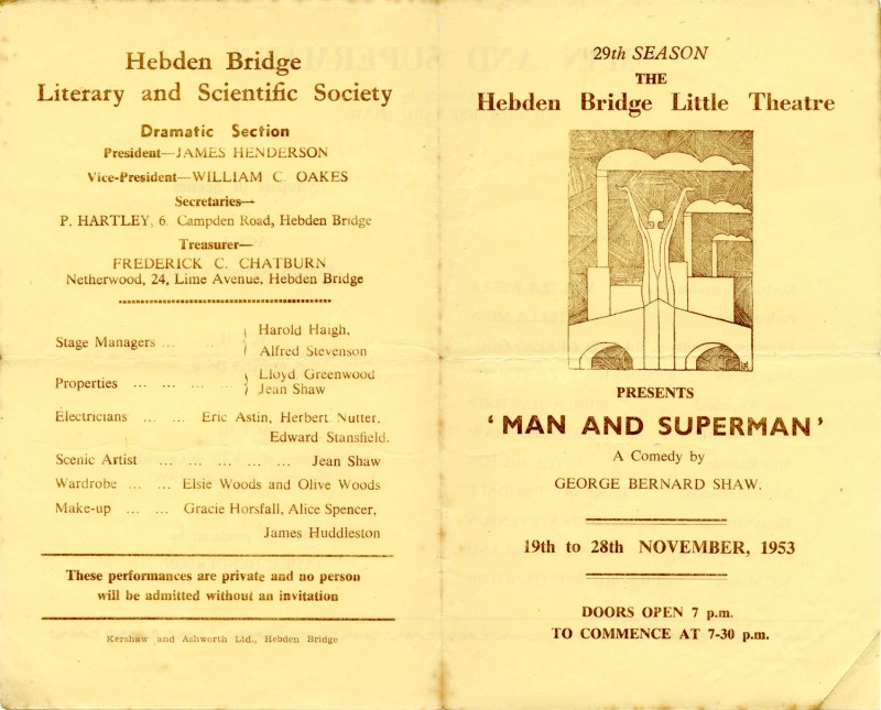 Programme for Man and Superman, 1953