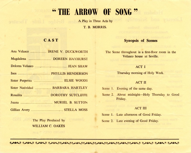 The Arrow of Song, 1955