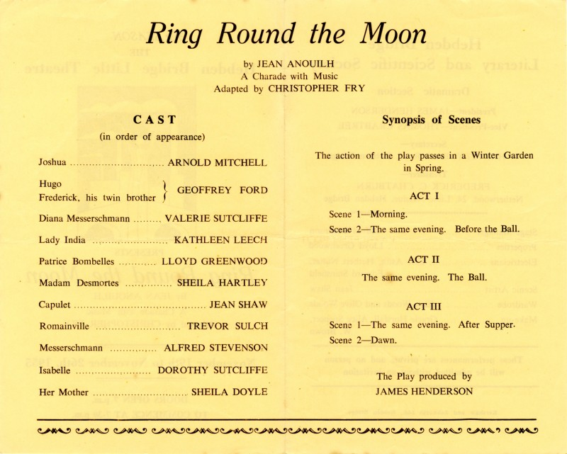 Ring Round the Moon programme