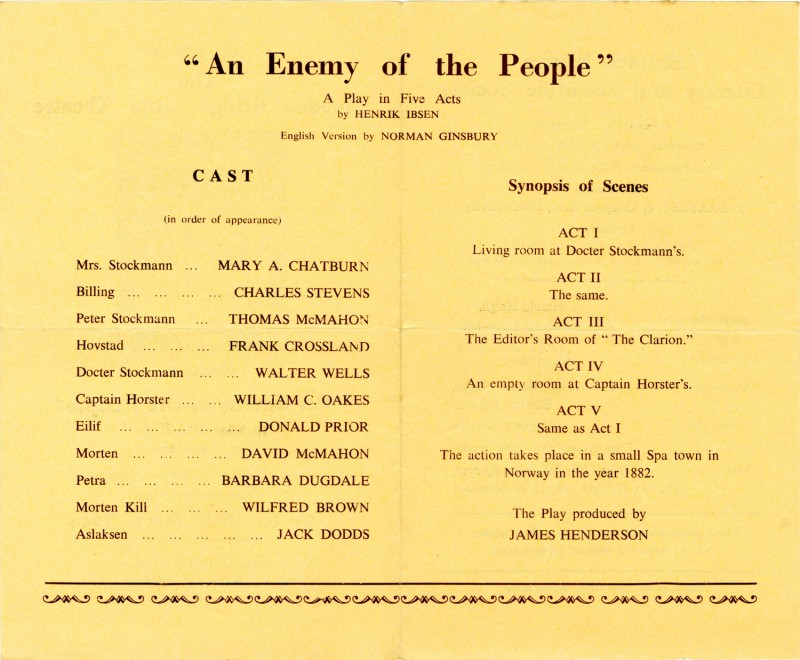 An Enemy of the People, 1953