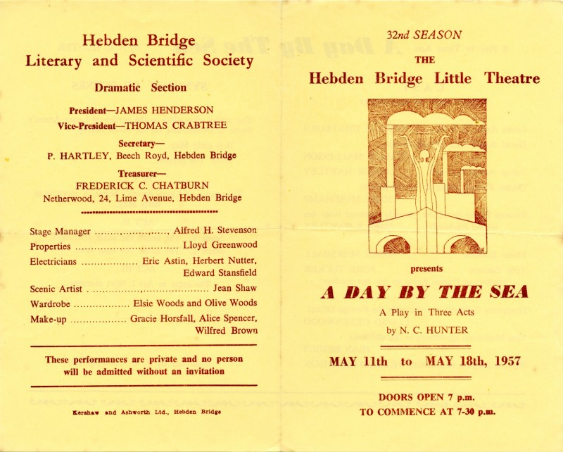 A Day by the Sea programme, 1957