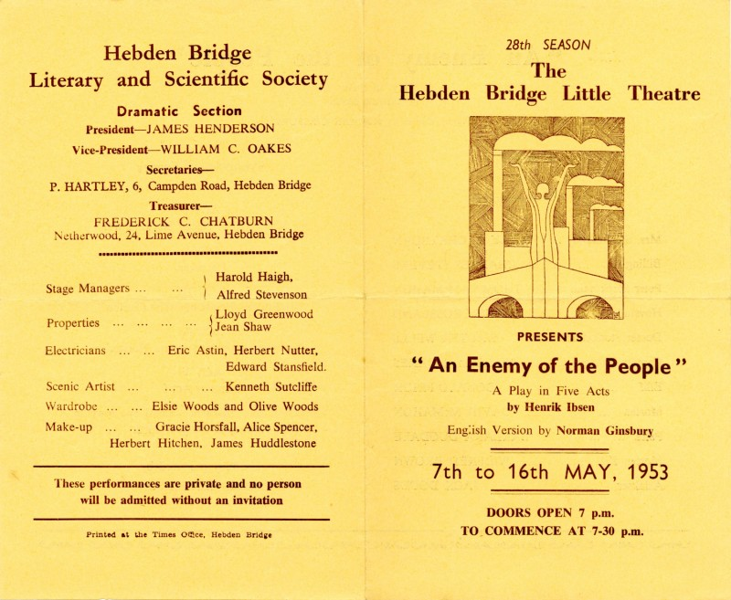 An Enemy of the People programme, 1953