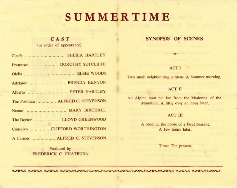 Summertime, 1957