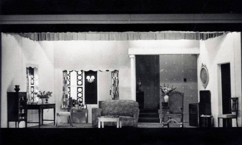 Set for Two Dozen Red Roses, by Kenneth Horne, Directed by James Henderson, 24 September-3 October 1953