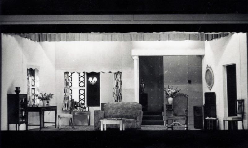 Set for Two Dozen Red Roses, by Kenneth Horne, Directed by James Henderson, 24 September-3 October 1953