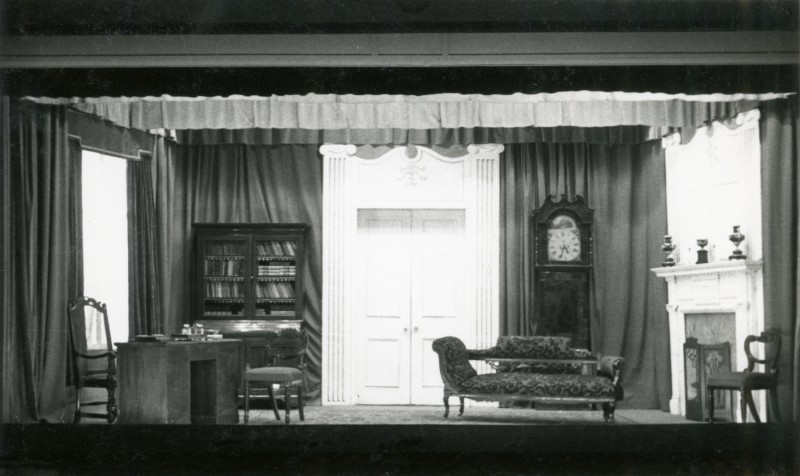 Set for Man and Superman, by George Bernard Shaw, directed by James Henderson, 19-28 November 1953