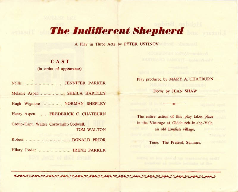 The Indifferent Shepherd, 1958